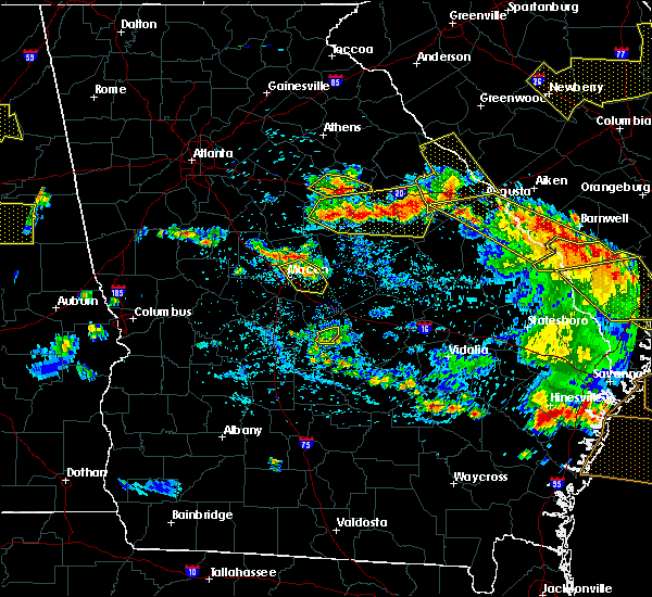 Radar Image for Severe Thunderstorms near Thomson, GA at 6/22/2019 5:18 PM EDT