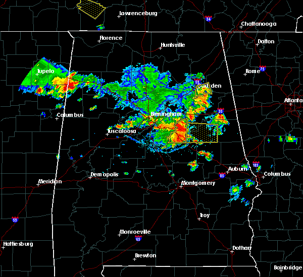 Radar Image for Severe Thunderstorms near Lincoln, AL at 6/22/2019 4:23 PM CDT