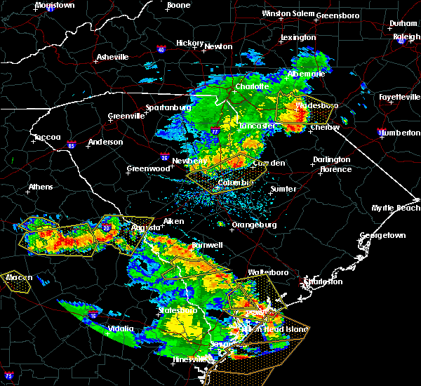 Radar Image for Severe Thunderstorms near Camden, SC at 6/22/2019 5:25 PM EDT