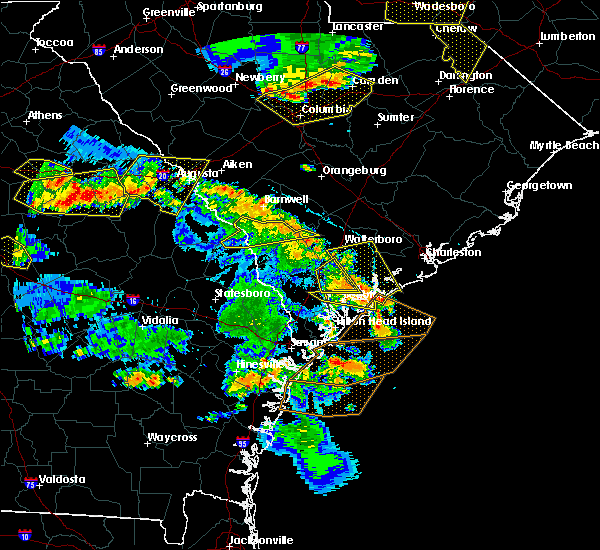 Radar Image for Severe Thunderstorms near Beaufort, SC at 6/22/2019 5:27 PM EDT