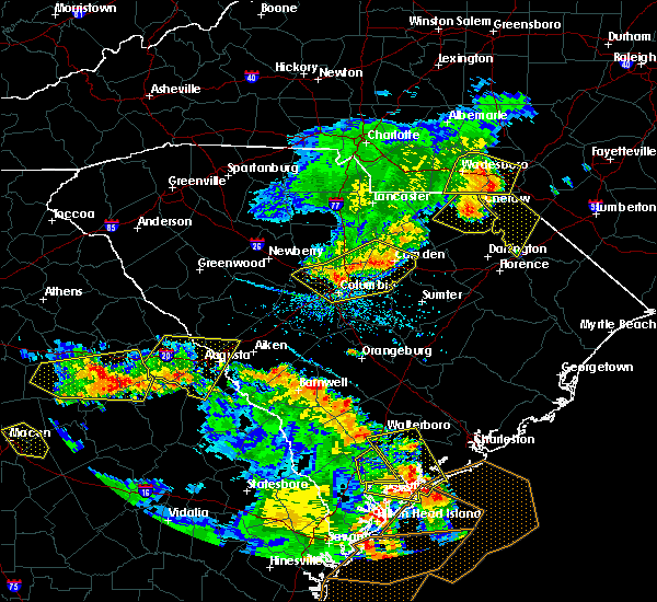 Radar Image for Severe Thunderstorms near Camden, SC at 6/22/2019 5:39 PM EDT