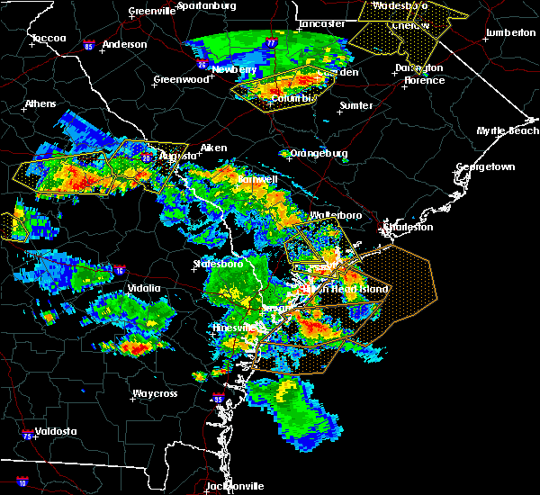 Radar Image for Severe Thunderstorms near Bluffton, SC at 6/22/2019 5:43 PM EDT