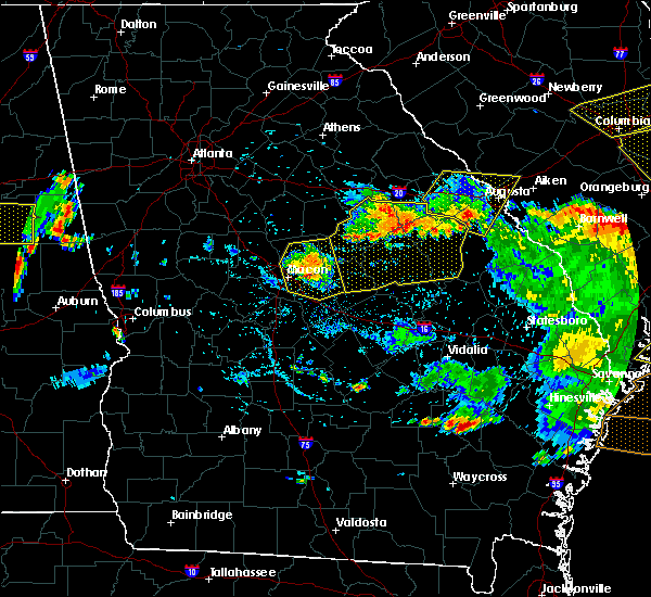 Radar Image for Severe Thunderstorms near Jeffersonville, GA at 6/22/2019 5:51 PM EDT