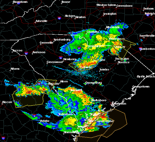 Radar Image for Severe Thunderstorms near Hopkins, SC at 6/22/2019 5:51 PM EDT