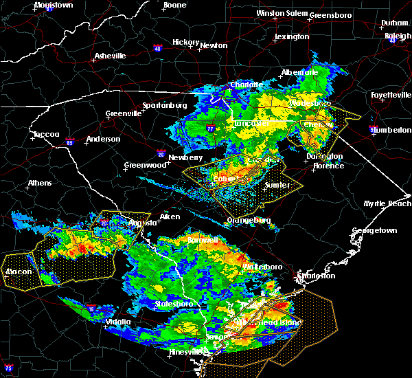 Radar Image for Severe Thunderstorms near Patrick, SC at 6/22/2019 5:59 PM EDT