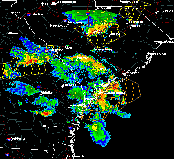 Radar Image for Severe Thunderstorms near Beaufort, SC at 6/22/2019 6:00 PM EDT