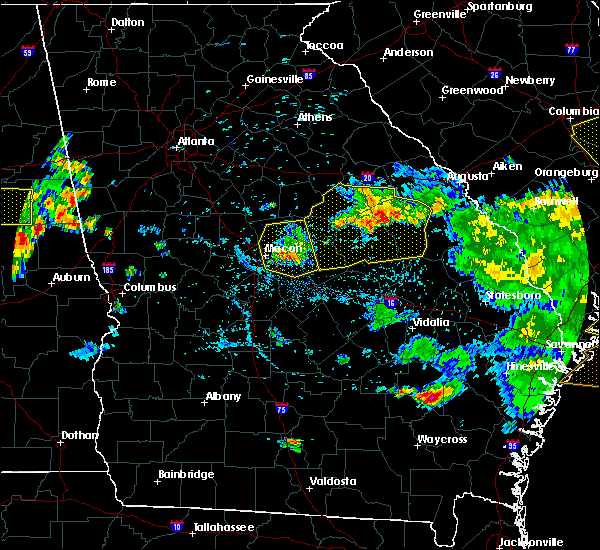 Radar Image for Severe Thunderstorms near Jeffersonville, GA at 6/22/2019 6:06 PM EDT