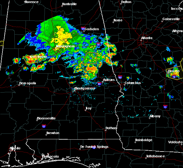 Radar Image for Severe Thunderstorms near Delta, AL at 6/22/2019 5:08 PM CDT