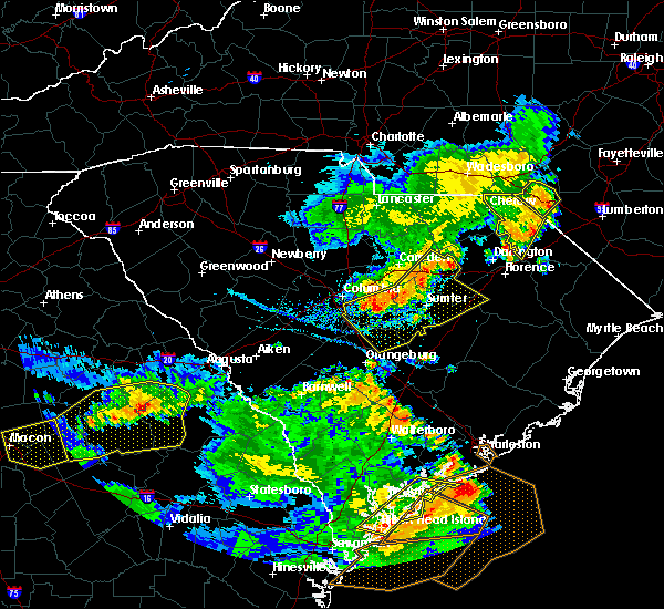 Radar Image for Severe Thunderstorms near Hopkins, SC at 6/22/2019 6:11 PM EDT