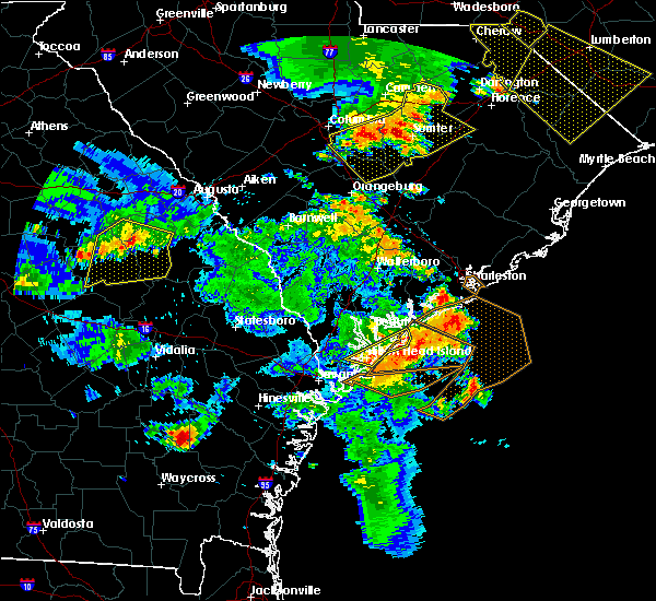 Radar Image for Severe Thunderstorms near Bluffton, SC at 6/22/2019 6:18 PM EDT