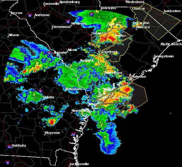 Radar Image for Severe Thunderstorms near Ravenel, SC at 6/22/2019 6:22 PM EDT