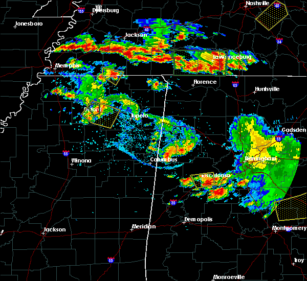 Radar Image for Severe Thunderstorms near Pontotoc, MS at 6/22/2019 5:27 PM CDT