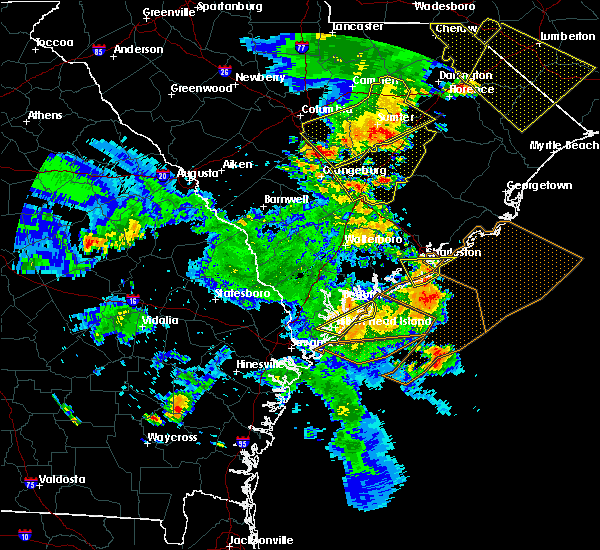Radar Image for Severe Thunderstorms near Ravenel, SC at 6/22/2019 6:33 PM EDT