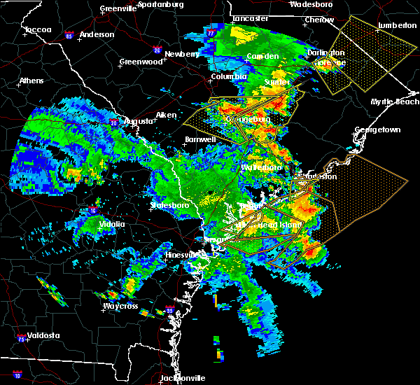 Radar Image for Severe Thunderstorms near Isle of Palms, SC at 6/22/2019 6:41 PM EDT