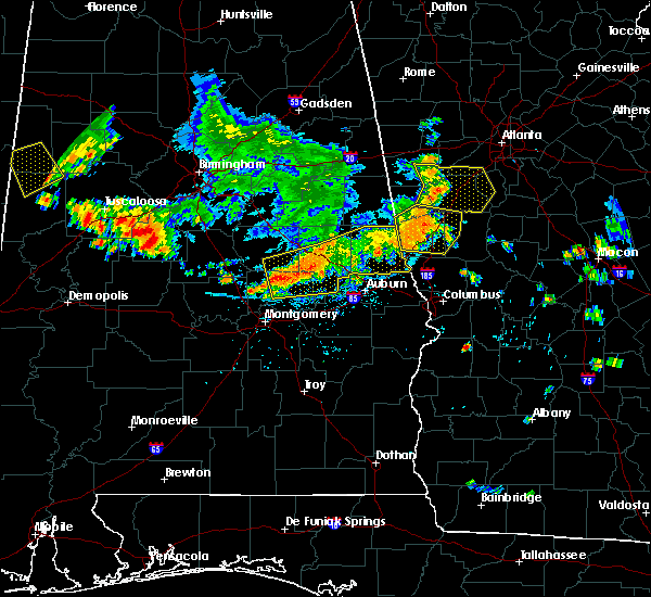 Radar Image for Severe Thunderstorms near Opelika, AL at 6/22/2019 5:45 PM CDT