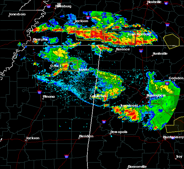 Radar Image for Severe Thunderstorms near Saltillo, MS at 6/22/2019 5:48 PM CDT