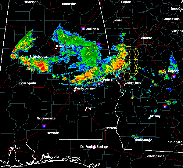 Radar Image for Severe Thunderstorms near Dadeville, AL at 6/22/2019 5:52 PM CDT
