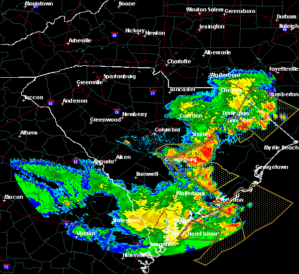 Radar Image for Severe Thunderstorms near Orangeburg, SC at 6/22/2019 6:56 PM EDT