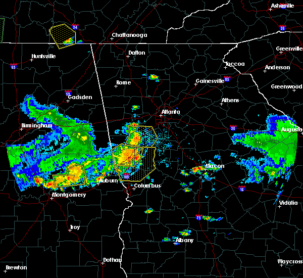 Radar Image for Severe Thunderstorms near Luthersville, GA at 6/22/2019 6:59 PM EDT