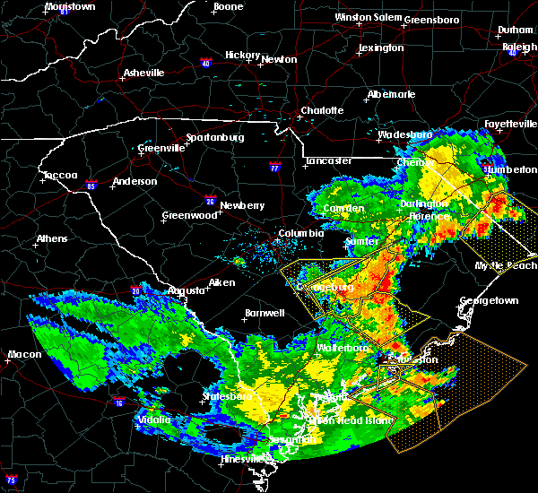 Radar Image for Severe Thunderstorms near Orangeburg, SC at 6/22/2019 7:08 PM EDT