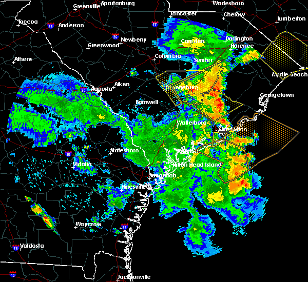Radar Image for Severe Thunderstorms near Mount Pleasant, SC at 6/22/2019 7:12 PM EDT