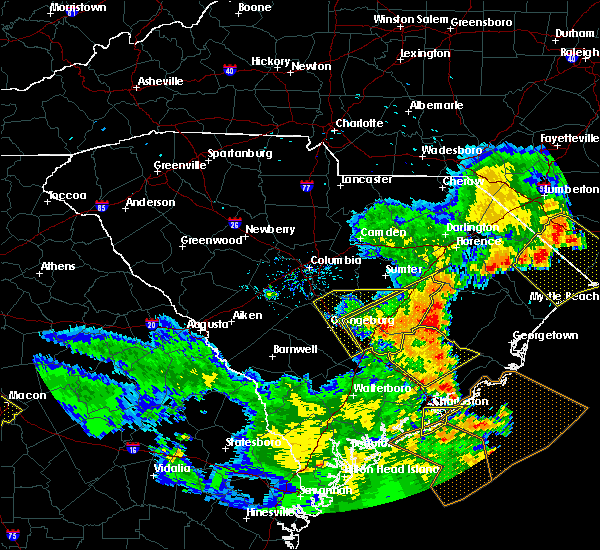 Radar Image for Severe Thunderstorms near Moncks Corner, SC at 6/22/2019 7:16 PM EDT