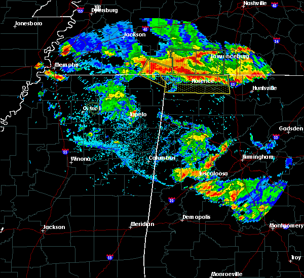 Radar Image for Severe Thunderstorms near Corinth, MS at 6/22/2019 6:20 PM CDT