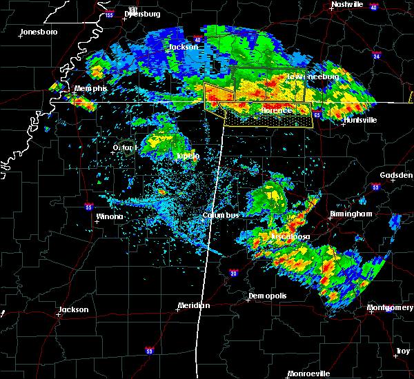 Radar Image for Severe Thunderstorms near Tuscumbia, AL at 6/22/2019 6:37 PM CDT