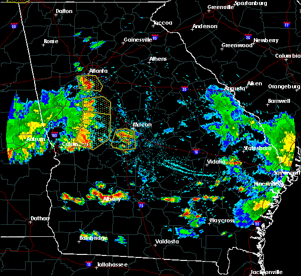 Radar Image for Severe Thunderstorms near Warner Robins, GA at 6/22/2019 7:50 PM EDT