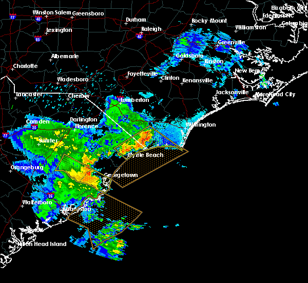 Radar Image for Severe Thunderstorms near Myrtle Beach, SC at 6/22/2019 7:55 PM EDT