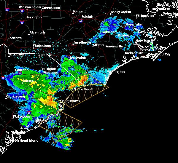 Radar Image for Severe Thunderstorms near Andrews, SC at 6/22/2019 7:58 PM EDT