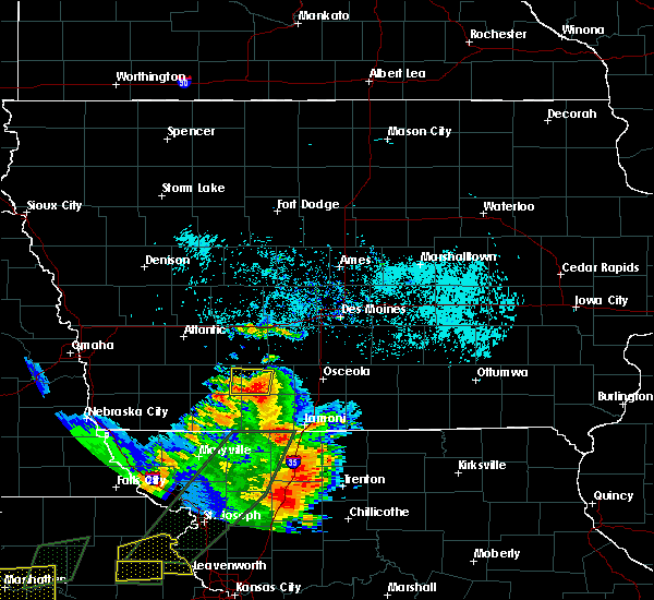 Radar Image for Severe Thunderstorms near Cromwell, IA at 6/22/2019 7:04 PM CDT