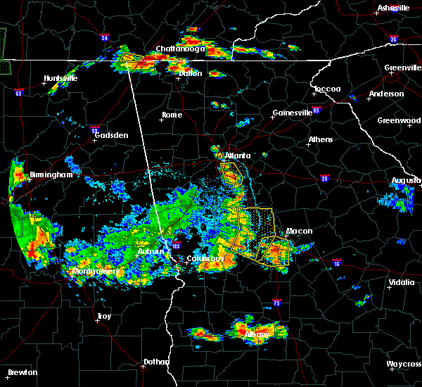 Radar Image for Severe Thunderstorms near Candler-McAfee, GA at 6/22/2019 8:04 PM EDT