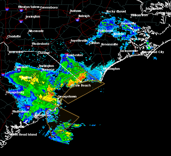 Radar Image for Severe Thunderstorms near Oak Island, NC at 6/22/2019 8:04 PM EDT