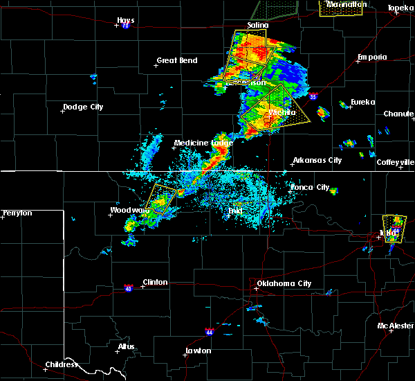 Radar Image for Severe Thunderstorms near Mutual, OK at 6/22/2019 7:13 PM CDT