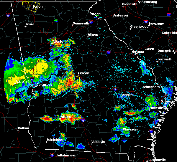 Radar Image for Severe Thunderstorms near Pitts, GA at 6/22/2019 8:31 PM EDT