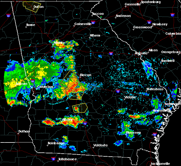 Radar Image for Severe Thunderstorms near Jeffersonville, GA at 6/22/2019 8:37 PM EDT