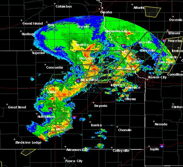 Radar Image for Severe Thunderstorms near Wetmore, KS at 6/22/2019 7:42 PM CDT