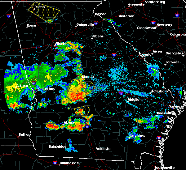 Radar Image for Severe Thunderstorms near Vienna, GA at 6/22/2019 8:53 PM EDT