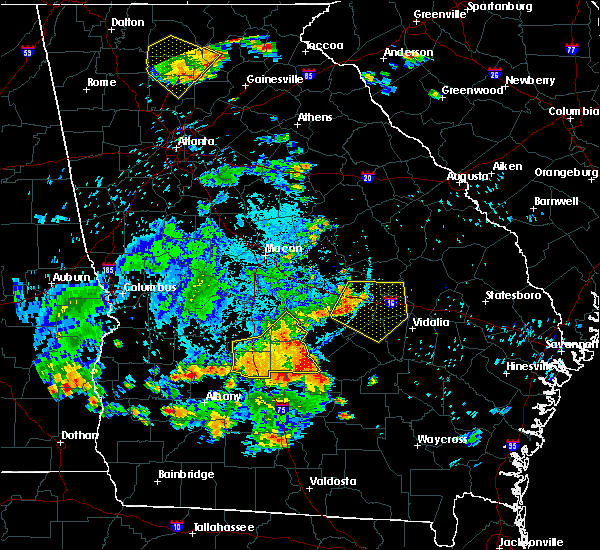 Radar Image for Severe Thunderstorms near Mount Vernon, GA at 6/22/2019 9:41 PM EDT
