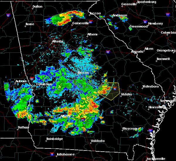 Radar Image for Severe Thunderstorms near Adrian, GA at 6/22/2019 9:54 PM EDT