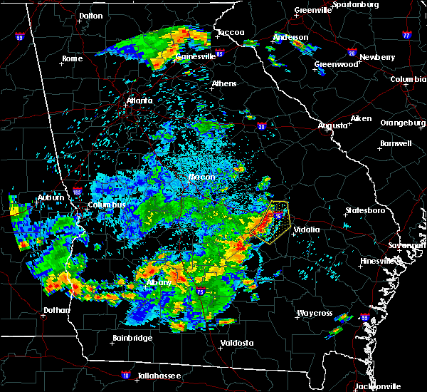 Radar Image for Severe Thunderstorms near Adrian, GA at 6/22/2019 10:07 PM EDT