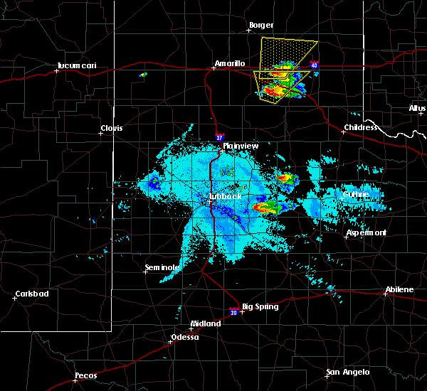 Radar Image for Severe Thunderstorms near Crosbyton, TX at 6/22/2019 9:44 PM CDT