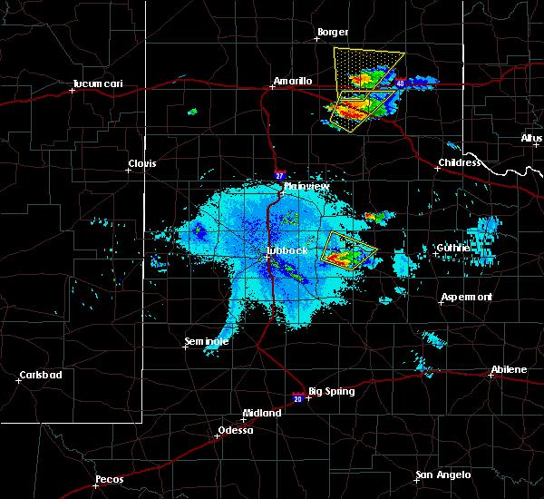 Radar Image for Severe Thunderstorms near Crosbyton, TX at 6/22/2019 10:00 PM CDT