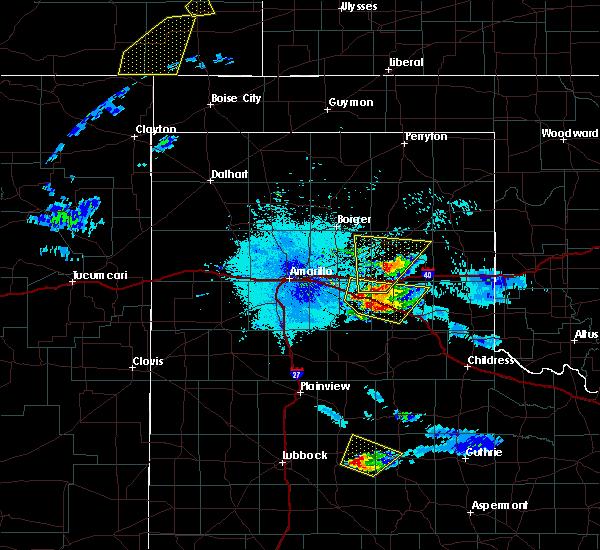 Radar Image for Severe Thunderstorms near Howardwick, TX at 6/22/2019 10:07 PM CDT