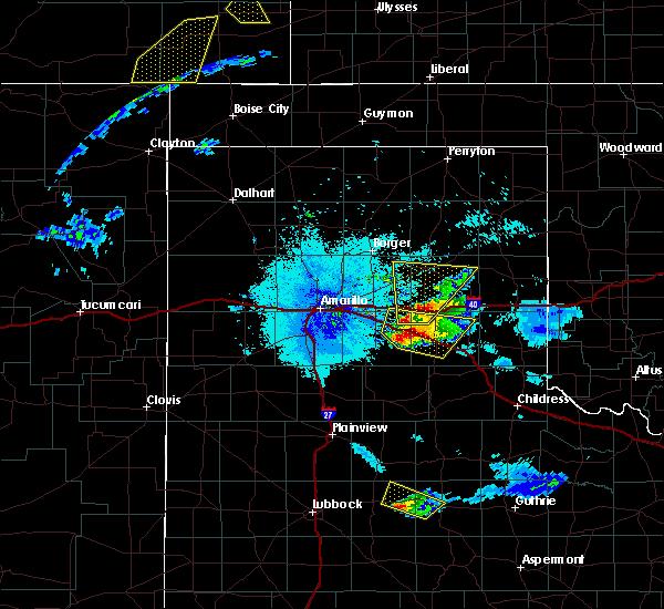 Radar Image for Severe Thunderstorms near Howardwick, TX at 6/22/2019 10:23 PM CDT