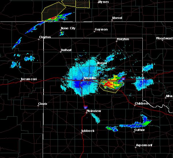 Radar Image for Severe Thunderstorms near Howardwick, TX at 6/22/2019 10:46 PM CDT