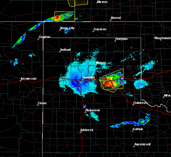 Radar Image for Severe Thunderstorms near Howardwick, TX at 6/22/2019 11:00 PM CDT