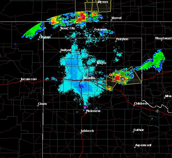Radar Image for Severe Thunderstorms near Lefors, TX at 6/23/2019 12:09 AM CDT