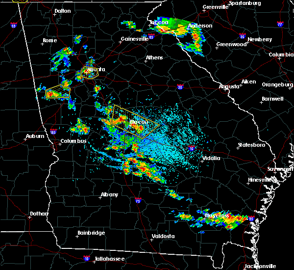 Radar Image for Severe Thunderstorms near Jeffersonville, GA at 6/23/2019 3:00 PM EDT